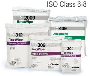 TX309 ITW TexWipe®TexWipe® Disposable Cleanroom Wipers  - 9` x 9`
