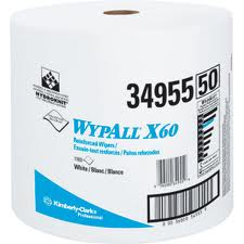 Kimberly Clark® Professional Wypall® 34955 X60 Disposable Wipers, Jumbo Roll