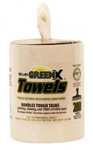 GREENX™ HW POLY WRAP DISPENSER, 54200 Sellars® GreenX™  10` x 13` Disposable Recycled Wipers