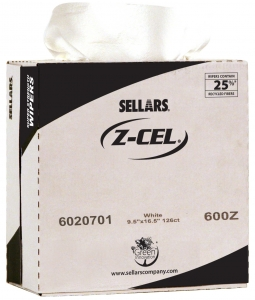 6020701 Sellars® Z-Cel® 600 Disposable Wipers- 9.5` x 16.5`