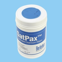 SatPax® 1000C Pre-Wetted Wipers,  Berkshire SatPax® 1000 Presaturated Cleanroom Wipers  - 6` x 9` Canister