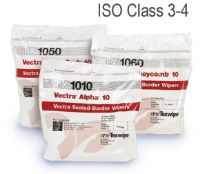 TX1010 ITW TexWipe® Vectra Alpha 10 Disposable Polyester Cleanroom Wiper - 9` x 9`