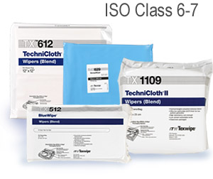 TX609 ITW-Texwipe® TechniCloth® Disposable Cleanroom Wipers   - 9` x 9`